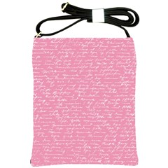 Handwriting  Shoulder Sling Bags