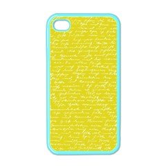 Handwriting  Apple Iphone 4 Case (color)
