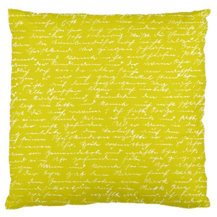 Handwriting  Large Cushion Case (Two Sides)