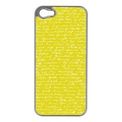 Handwriting  Apple Iphone 5 Case (silver) by Valentinaart