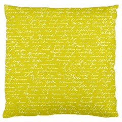 Handwriting  Standard Flano Cushion Case (one Side) by Valentinaart