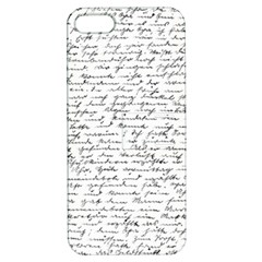 Handwriting  Apple Iphone 5 Hardshell Case With Stand