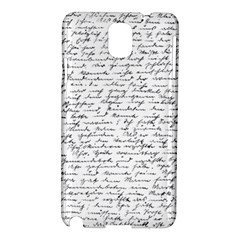 Handwriting  Samsung Galaxy Note 3 N9005 Hardshell Case