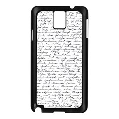 Handwriting  Samsung Galaxy Note 3 N9005 Case (black) by Valentinaart