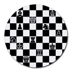 Chess Round Mousepads by Valentinaart