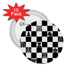 Chess 2 25  Buttons (10 Pack)  by Valentinaart