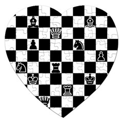 Chess Jigsaw Puzzle (heart) by Valentinaart