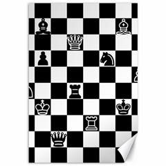 Chess Canvas 12  X 18   by Valentinaart