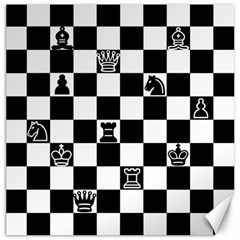 Chess Canvas 16  X 16   by Valentinaart