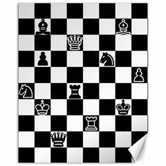 Chess Canvas 11  X 14   by Valentinaart