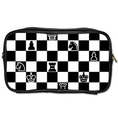 Chess Toiletries Bags 2 Side by Valentinaart