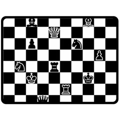 Chess Fleece Blanket (large)  by Valentinaart
