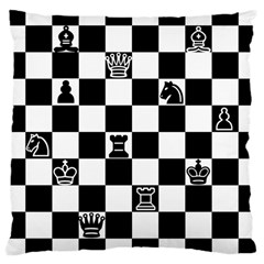 Chess Large Cushion Case (one Side) by Valentinaart
