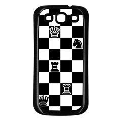 Chess Samsung Galaxy S3 Back Case (black) by Valentinaart