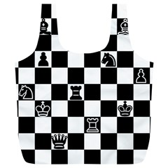 Chess Full Print Recycle Bags (l)  by Valentinaart