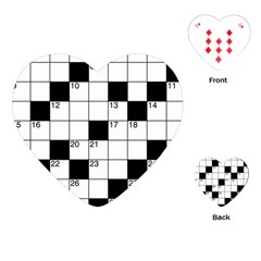 Crosswords  Playing Cards (heart)  by Valentinaart