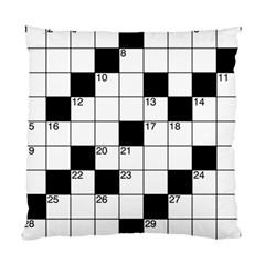 Crosswords  Standard Cushion Case (one Side) by Valentinaart