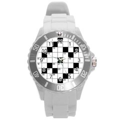 Crosswords  Round Plastic Sport Watch (l) by Valentinaart