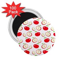 Apple Pattern 2 25  Magnets (100 Pack)  by Valentinaart