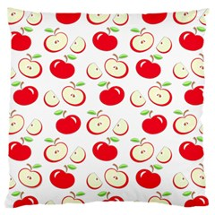 Apple Pattern Large Cushion Case (two Sides) by Valentinaart