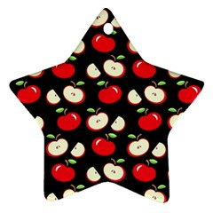 Apple Pattern Ornament (star) by Valentinaart