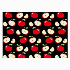 Apple Pattern Large Glasses Cloth (2 Side) by Valentinaart