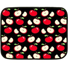 Apple Pattern Fleece Blanket (mini) by Valentinaart