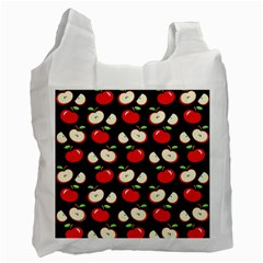 Apple Pattern Recycle Bag (one Side) by Valentinaart