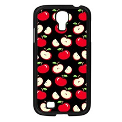 Apple Pattern Samsung Galaxy S4 I9500/ I9505 Case (black) by Valentinaart