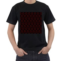 Pattern Men s T Shirt (black) (two Sided)