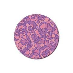 Pattern Rubber Round Coaster (4 Pack)  by Valentinaart