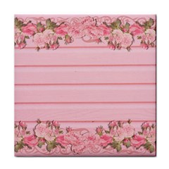 Pink Peony Outline Romantic Tile Coasters by Simbadda