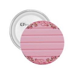 Pink Peony Outline Romantic 2 25  Buttons by Simbadda
