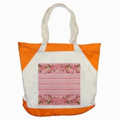 Pink Peony Outline Romantic Accent Tote Bag
