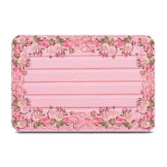 Pink Peony Outline Romantic Plate Mats by Simbadda