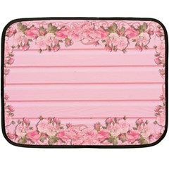 Pink Peony Outline Romantic Double Sided Fleece Blanket (mini)