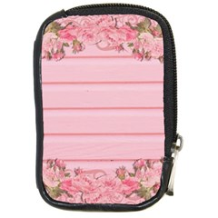 Pink Peony Outline Romantic Compact Camera Cases by Simbadda