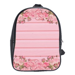 Pink Peony Outline Romantic School Bags(large)  by Simbadda