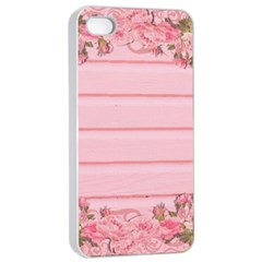 Pink Peony Outline Romantic Apple Iphone 4/4s Seamless Case (white) by Simbadda