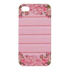 Pink Peony Outline Romantic Apple Iphone 4/4s Hardshell Case