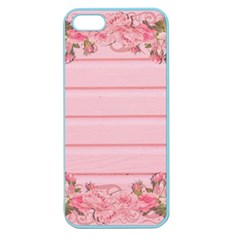 Pink Peony Outline Romantic Apple Seamless Iphone 5 Case (color) by Simbadda
