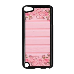 Pink Peony Outline Romantic Apple Ipod Touch 5 Case (black) by Simbadda