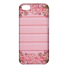 Pink Peony Outline Romantic Apple Iphone 5c Hardshell Case by Simbadda