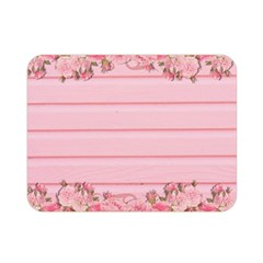 Pink Peony Outline Romantic Double Sided Flano Blanket (mini)  by Simbadda