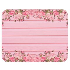 Pink Peony Outline Romantic Double Sided Flano Blanket (medium)  by Simbadda