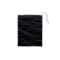 Dark Lake Ocean Pattern River Sea Drawstring Pouches (xs)