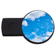 Sky Blue Clouds Nature Amazing Usb Flash Drive Round (2 Gb)