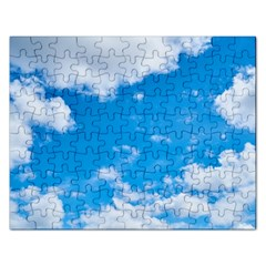 Sky Blue Clouds Nature Amazing Rectangular Jigsaw Puzzl