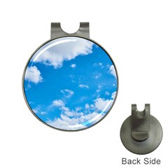 Sky Blue Clouds Nature Amazing Hat Clips With Golf Markers