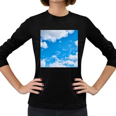 Sky Blue Clouds Nature Amazing Women s Long Sleeve Dark T Shirts